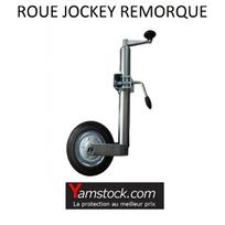 Alpa - Roue jockey diam 48mm metal + collier pour Remorque Caravane