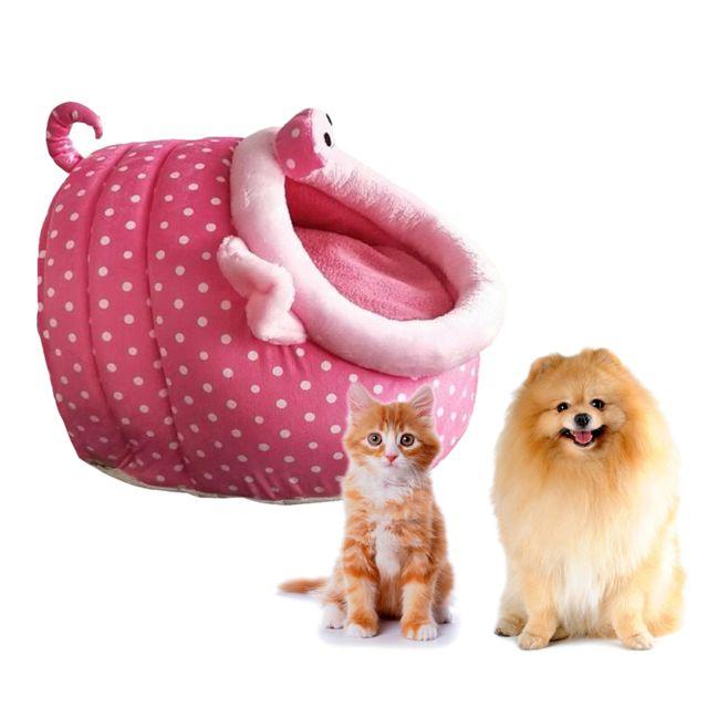 Doux Chenil Pour Animaux De Compagnie Cochon Rose Mignon Chaud Maison Lit Petit Chien Chat De Maison Chiot S