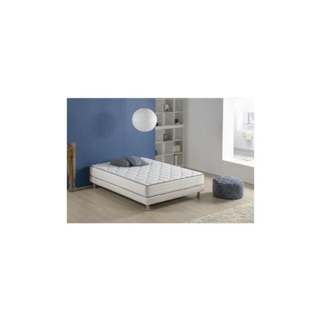 Finlandek Matelas Ressorts 140 X 200 - Confort Equilibre - Epaisseur 25 Cm - Accueil Mousse Memoire De Forme - Arkuus