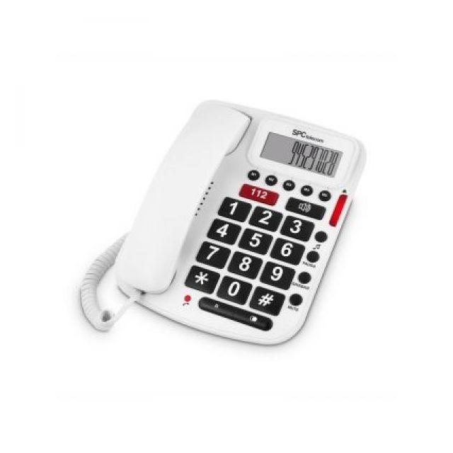 Spc 3293B Telefono Confort Volume Teclas Grandes Le téléphone grand clavier Spc 3293B Confort Volume est un produit de la section Téléphonie et télécopie - Nouveaux téléphones à statut fixe.