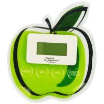 Promobo - Minuteur Electronique Magnet Cuisine Forme Tendance Fun Pomme Verte