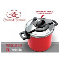 CuisineCooking - Autocuiseur 7 L. Inox Rouge Cuisine & Cooking