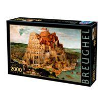 Dtoys - Puzzle 2000 pièces : Brueghel : La Tour de Babel