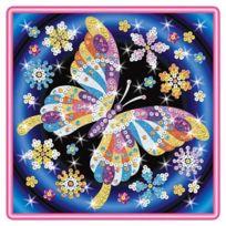 Art Sequin - Kad1012 - Peinture Au NumÉRO - Motif Papillons - Stardust & Sequins - Coloris AlÉATOIRE