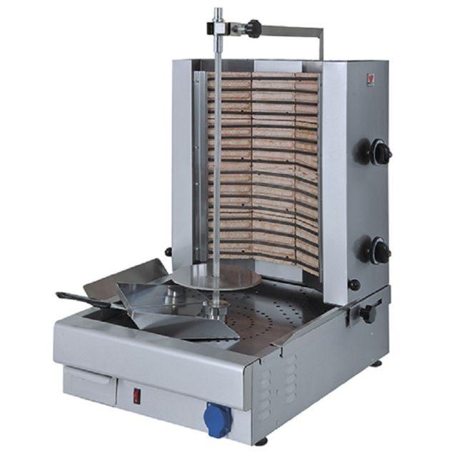 Materiel Chr Pro Broche Kebab Electrique - 2 Zones de Chauffe - 35 kg - Virtus