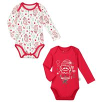 Petit Beguin - Lot de 2 bodies manches longues bébé mixte Ho Ho - Taille - e122c7a09b7