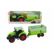 Dickie Toys - Tracteur Claas et remorque