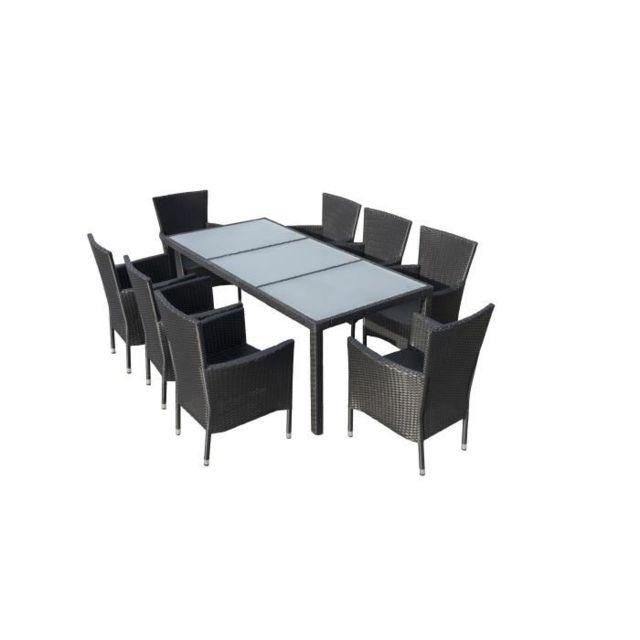 GÉNÉRIQUE - Salon De Jardin - Ensemble Table Chaise Fauteuil ...