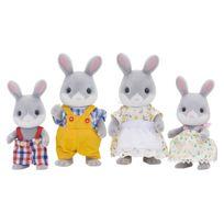 Sylvanian Families - 4 figurines famille Lapin gris - 3134