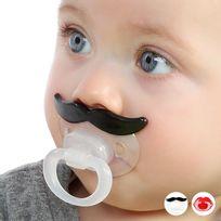 Totalcadeau - Tétine sucette avec moustache orthodontique humour drole