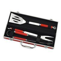 Le Marquier - Malette 3 ustensiles en inox : 1 pince + 1 fourchette + 1 spatule