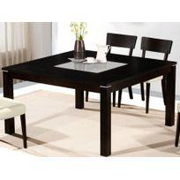 Vente-unique - Table à manger Mantala - 4 à 6 couverts - Hêtre massif wengé