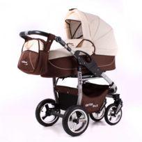 Divers Marques - Poussette / Landau combiné 3en1 multifonctions avec siège-auto & équipement bébé enfant Arte 3x3 | Marron - Beige