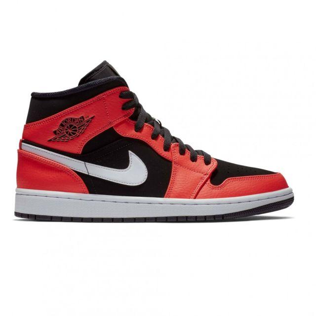 61453cb2710 Nike - Basket mode Air Jordan 1 Mid 554724061 - pas cher Achat   Vente  Baskets homme - RueDuCommerce