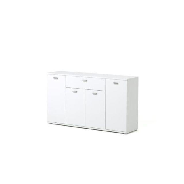 DIXI Buffet bas contemporain blanc - L 120 cm