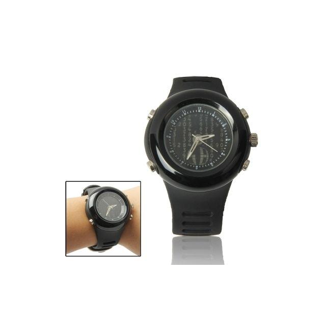 wewoo montre silicone noir l gante montre bracelet quartz en avec rouleau style du cadran. Black Bedroom Furniture Sets. Home Design Ideas