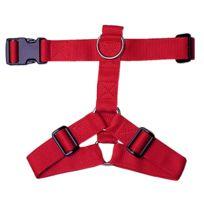 Divers Marques - Harnais nylon 25mm 50/90cm - Rouge
