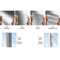 Novellini - Paroi douche fixe verre transparent Lunes F - réglable de 66 à 72 cm