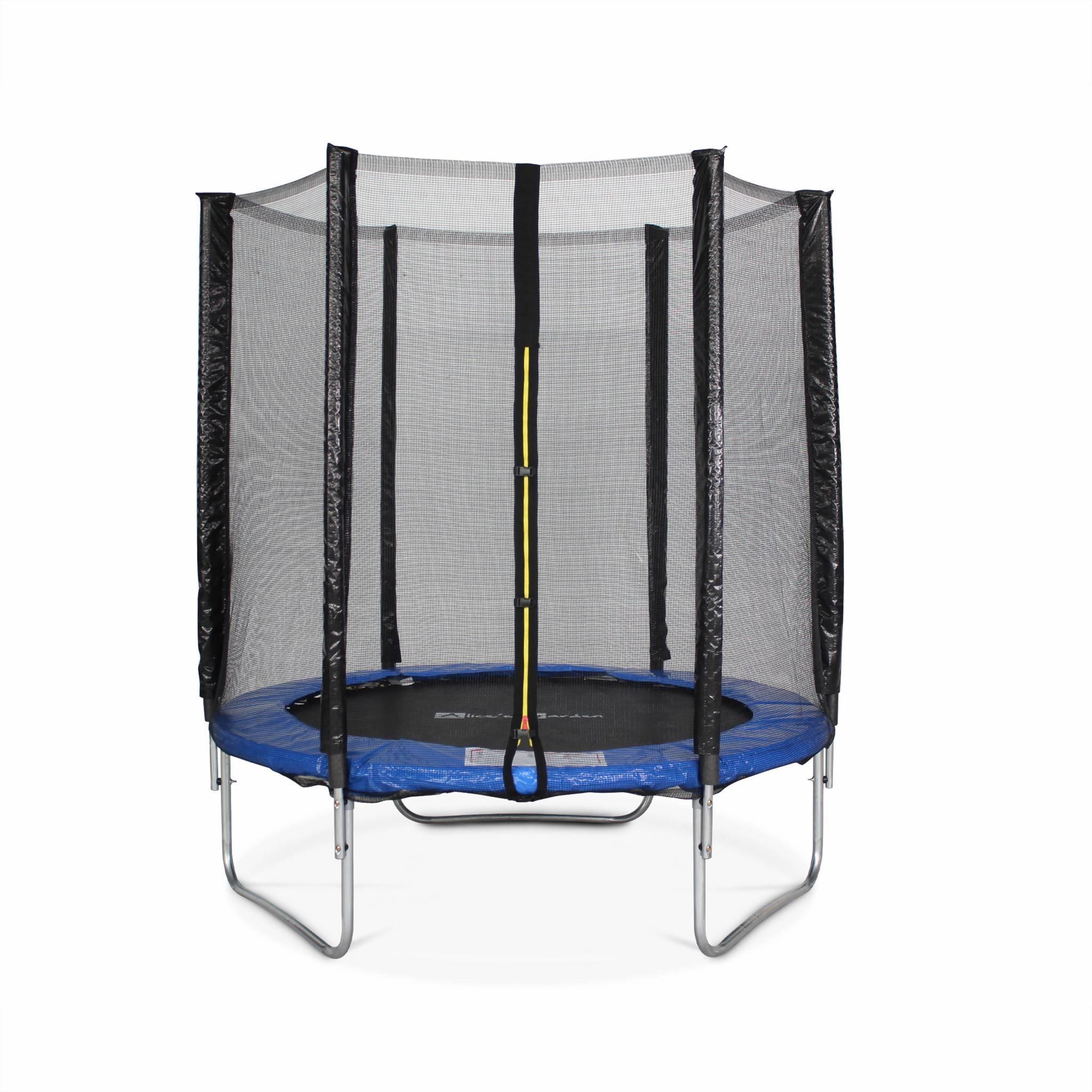 Trampoline rond Cassiopée Ø 180cm bleu avec son filet de protection - Trampoline de jardin 2m| Qualité PRO. | Normes EU