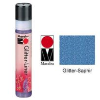 Marabu - Glitter Liner, 25 Ml Saphir Mr180309594