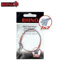 Rhino - Bas De Ligne Acier 49 Brins Emerillon Bombe Et Emerillon De Securite
