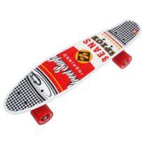 Street Surfing - Skateboard Souper black 21.6po x 6.1po Rouge 12279