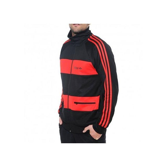 ADIDAS ORIGINALS - Veste Beckenbauer TT Rouge Homme Adidas ... cafd6a7e5f6
