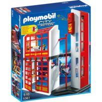 PLAYMOBIL - Caserne de pompiers avec alarme - 5361