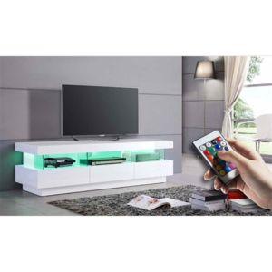 chloe design meuble tv design tonni blanc pas cher achat vente meubles tv hi fi. Black Bedroom Furniture Sets. Home Design Ideas