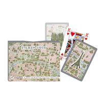 Piatnik - Jeu de cartes : Coffret de 2 x 55 cartes : Plan de Paris en 1910