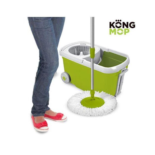 marque generique balai serpill re rotatif seau roulant nettoyage a frange microfibre et. Black Bedroom Furniture Sets. Home Design Ideas
