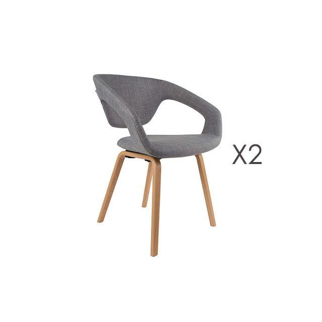 Lot de 2 fauteuils vintage - gris
