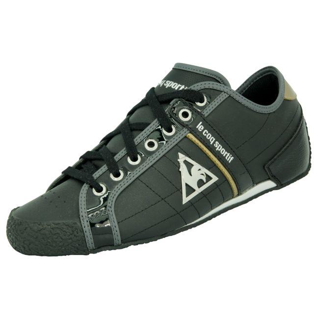 515ff5e47b42 Le Coq Sportif - Le Coq Sportif Escrime Mf Color Patent Chaussures Mode  Sneakers Homme Noir