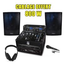 My Deejay - Pack Sono Dj Complet 800W, Ampli Double Lecteur Cd