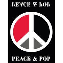 Mondial Tapis - tapis 70x130cm peace & pop - pop peace pop noir-070