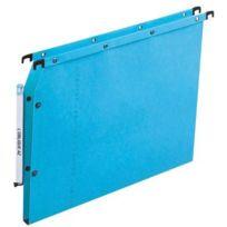 L'OBLIQUE - dossiers suspendus azv ultimate r, pour armoire dos 15 mm bleu - paquet de 25