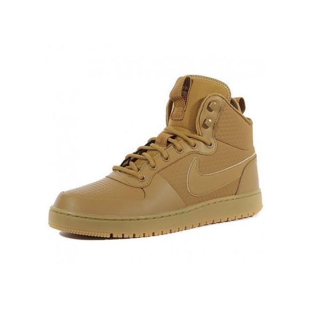 le dernier 20aaa a4f49 Nike - Chaussures Nikecourt Borough Mid Marron Homme ...