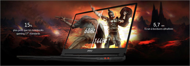MSI GE - Ecran Full HD 144 Hz