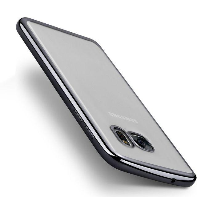 d0a6012e87ec30 Cabling - Coque Silicone Transparente Gel Souple Contour noir chrome Samsung  Galaxy A5 2016 - pas cher Achat   Vente Coque, étui smartphone -  RueDuCommerce