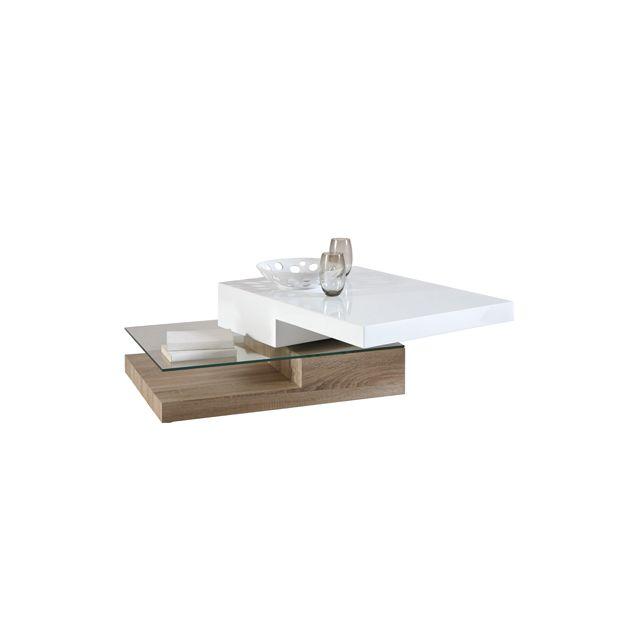 Design Bristol Table Plateau Cheneblanc Pivotant Modern Basse OXTkiPZwu