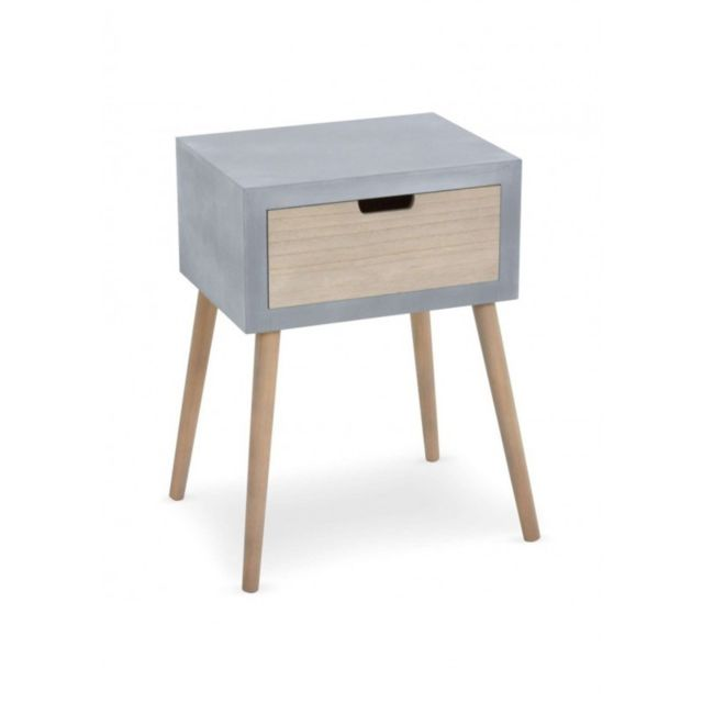 Chevet Table Factory Tiroir Scandinave Home Gris De 1 The Deco TlFKc31J