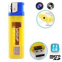 Yonis - Briquet camera espion mini appareil photo Usb Micro Sd 32 Go