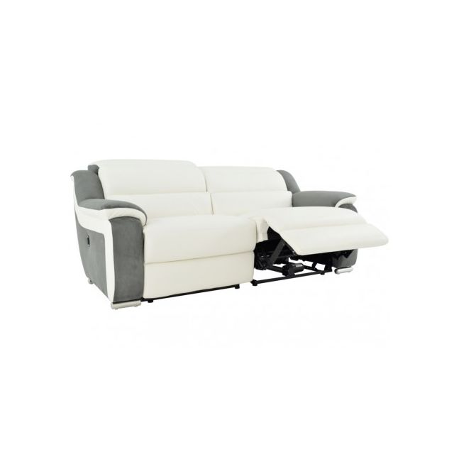mode designer 80f22 ba48b VENTE-UNIQUE - Canapé 3 places relax électrique en cuir et ...