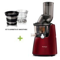 Kuvings - Pack promo C9500 Rouge + Kit à smoothies et sorbets - Extracteur De Jus Vertical