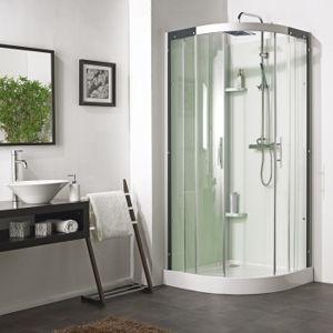 sanitaire fr cabine de douche flotille 3 90x90 1 4 rond pas cher achat vente cabine de. Black Bedroom Furniture Sets. Home Design Ideas