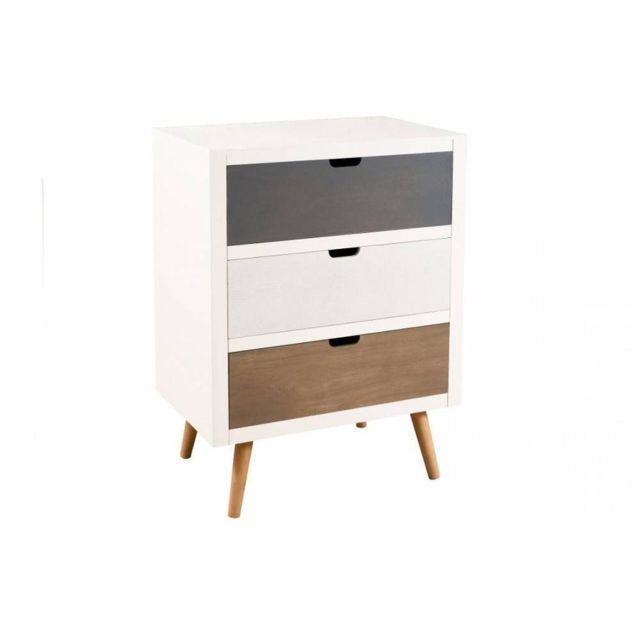 inside 75 meuble 3 tiroirs enzo en pin style scandinave pas cher achat vente commode. Black Bedroom Furniture Sets. Home Design Ideas