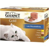 Gourmet - Gold Coffret Les mousselines - Pour chat adulte - 12x85 g x1