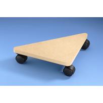 Mottez - Plateau rouleur triangulaire 35 x 25 x 25 cm - charge 75 kg B768Q