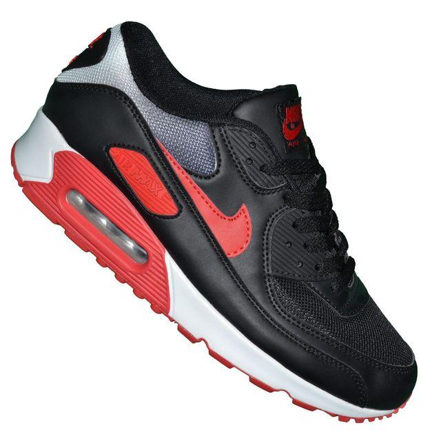 reputable site 27038 ee028 Nike - Basket - Homme - Air Max 90 217 - Noir Blanc Rouge