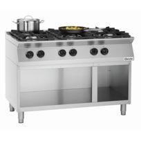 Bartscher - Cuisiniere 6 feux Mfgo 7060 avec soubassement ouvert
